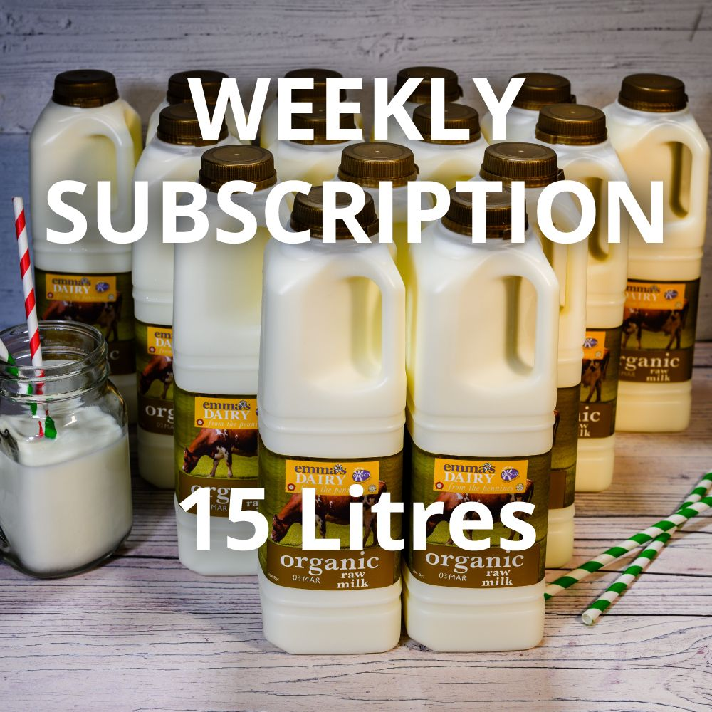 15 Litre Raw Organic Milk Subscription Weekly