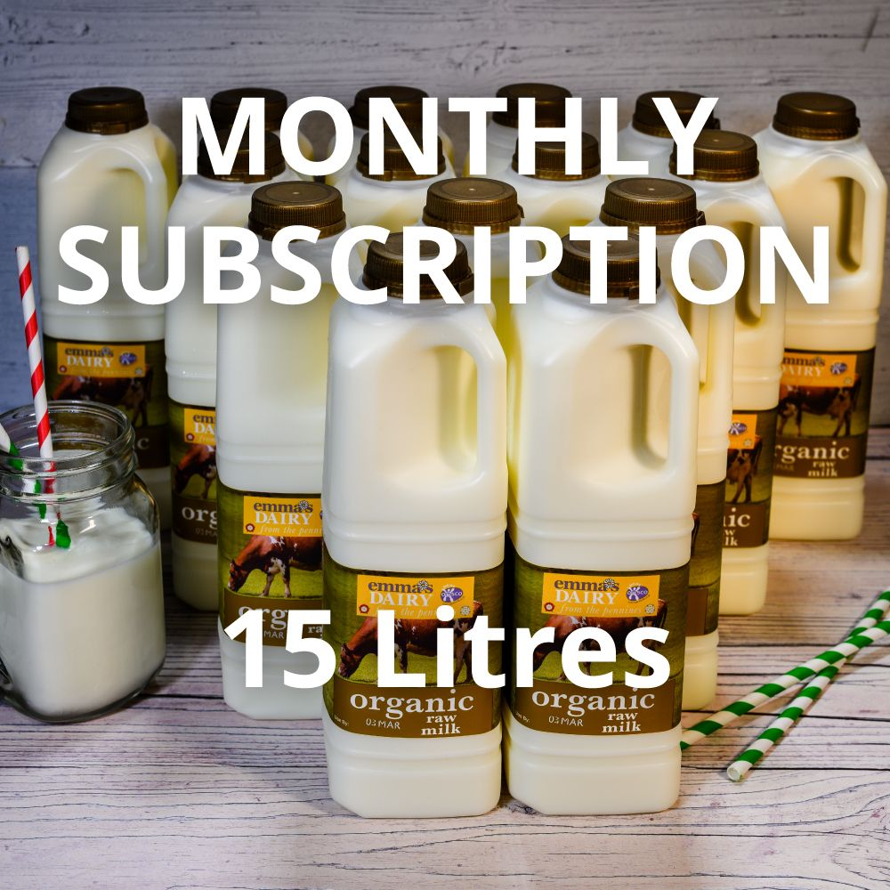 15 Litres Raw Organic Milk Subscription Monthly