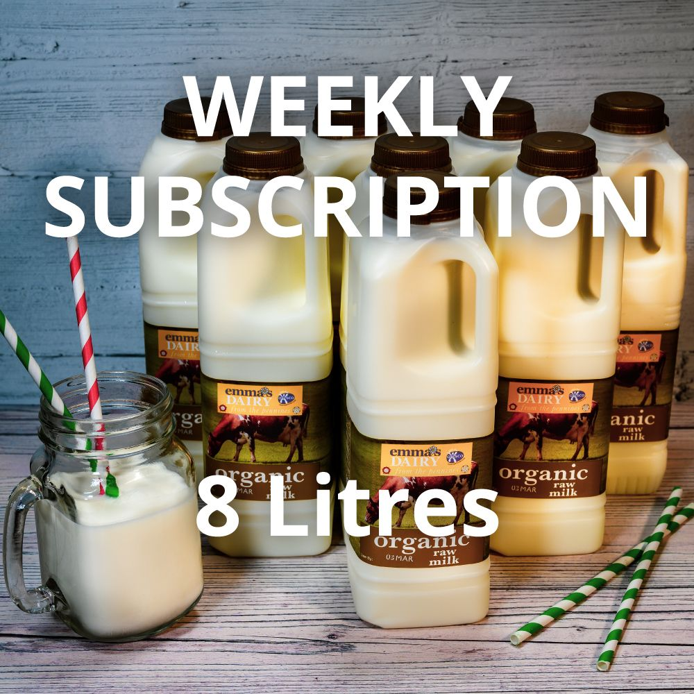 8 Litre Raw Organic Milk Subscription Weekly