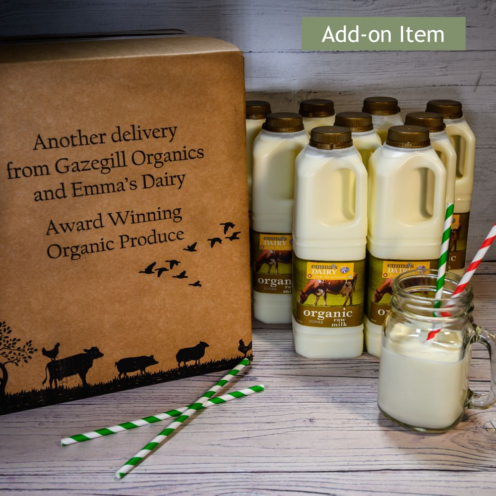 Add-on Organic Raw Milk 6 Litre